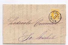 STORIA POSTALE 1874 AUSTRIA 2 KR SU RESTAMPATO TRENTO 12/10 D/9336