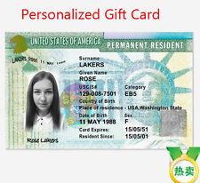 Custom American USA Green Card Customize Entertainment Identity Card Gift