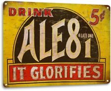 """Ale81 Soft Drink� Metal Decor Wall Art Soda Retro Store Shop Sign"