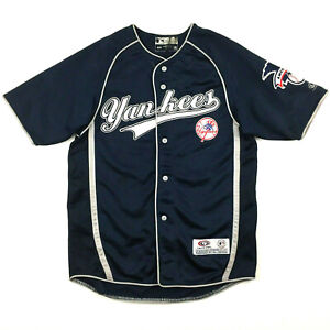 New York Yankees Youth Jersey Sewn Stitched Script Logo Baseball True Fan Kids M