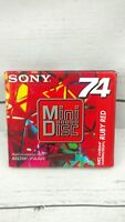NEW NIP Sealed SONY Mini Disc Minidisc Color Collection Ruby Red 74 Minutes