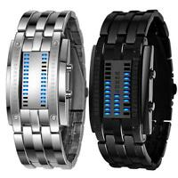 New Luxury Men's Womens Stainless Steel Date Digital LED Bracelet Sport Watches