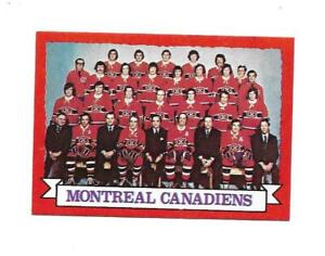 1973-74 OPC:#100 Montreal Canadiens Team