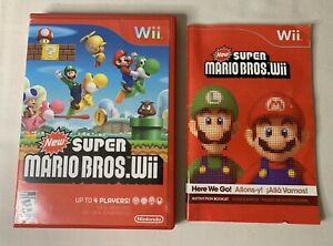 New Super Mario Bros. Nintendo Wii Case and Manual Only (Disc Does Not Read)