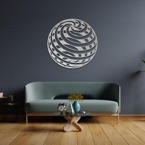 028 Optical Illusion 3D Ball Hanging Metal Modern Contemporary Wall Art