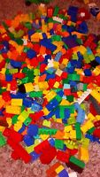 LEGO DUPLO ASSORTED BRICKS COLOURS 500G 1/2KG NICE CLEAN CONDITION XMAS STOCKING