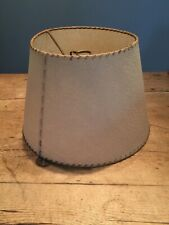 "1950-60s BEIGE RUSTIC LOOK BUMPY LAMP SHADE  7 3/4"" TOP X 8"" TALL X 12"" BOTTOM"