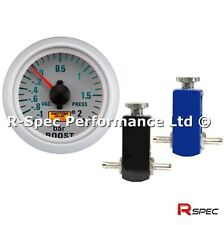 Compact Manual Boost Controller MBC Kit & BAR Boost Gauge - Any Petrol Turbo Car