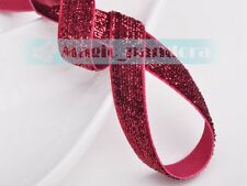 "10 yards 3/8"" 10mm Flocked Sparkle Glitter Velvet Ribbon Bows Sew Trims Crafts"