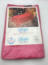 Vintage Hot Pink Piping Rock Design Bates Bedspread Twin Bunk Bed 63x100 Nwt