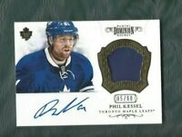 Panini Dominion hockey patch card signed Phil Kessel, Toronto Maple Leafs 05/60