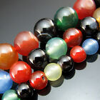"""TOP 15"""" Natural Colorful Agate Gemstone Round spacer Beads 4mm 6mm 8mm 10mm 12mm"""