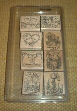 Stampin' Up | *Feathered Friends* Set of 8 Rubber Stamps Birds Thank You Welcome