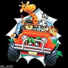 Kid's Cute Animal Jeep HEAT PRESS TRANSFER T Shirt Tote Sweatshirt Fabric #404b