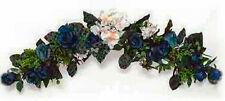 BLUE & CREAM  SWAG ~ Silk Wedding Flowers Arch Gazebo Decor Centerpieces Chuppah
