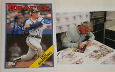 Ted Simmons Atlanta Braves Signed Autographed 1988 Topps Card
