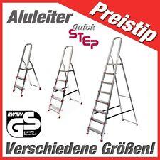 Alu-Stehleiter mit 3-8 Stufen, NEUWARE, mit GS-Siegel - vom Fachhändler, TOP!