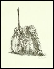 """Mountain Man  Vintage Limited Edition Print by Ken Schmidt: """"Looking For a Sign"""""""