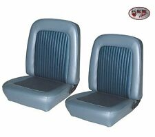 Custom 1968 Mustang COUPE Front Bucket & Rear Seat Upholstery - Blue - by TMI