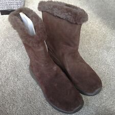 Skechers Brown Suede Warm Lined Mid Calf Boots UK4