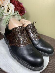 FOOTJOY Dryjoys Aquaflex Leather Golf Shoes Soft Spikes Woman's Size 9 Men's 7.5