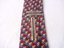 M.C. ESCHER Krawatte Tie Cravate. Seide HAND MADE. Fish & Boat. CORDON ART