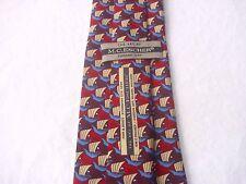 M.C. ESCHER Krawatte Tie Cravate. Seide HAND MADE. Fish & Boat. CORDON ART