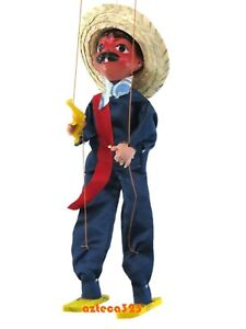 Mexican Marionette String Puppet Bandido Gun