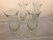 4 Glass Frosted Southern Comfort Logo Hurricane Glasses Great Price
