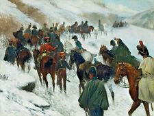 JAN VAN CHELMINSKI Napoleon Passing through the Guadarrama Mountains Art  Canvas