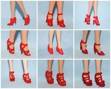 Assorted Lot of Red Heels Shoes Pumps Boots Athletic Genuine Barbie - You Choose