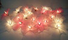 CHRISTMAS GARLAND STRING LIGHTS FRANGPANI FLOWERS SWEET PINK 20 DECOR WEDDING