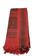 100% Cotton Military Shemagh Scarf Keffiyeh Sniper Veil Head Wrap Red & Black