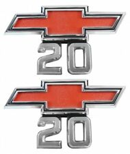 "67-68 Chevrolet C20/K20 Pick Up Pickup Truck Bowtie "" 20 "" Fender Emblem USA PR"