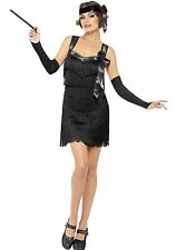 Women's Foxy Black Flapper Costume size Medium (with defect)