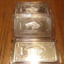New listing 10 One Troy Ounce German Silver Bullion Buffalo Bars 10 Troy Ounces Total lot 1
