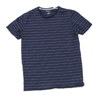 Quiksilver Mens Size M Striped Blue T-Shirt