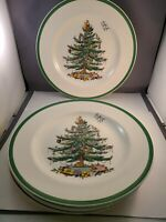 """Set of 5 Spode Christmas Tree 10 3/4"""" Dinner Plates S3324 Made in England"""