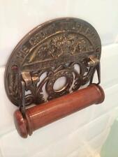 style vintage couronne cuivre effet bronze rétro porte rouleau papier toilette