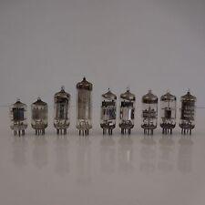 9 LAMPES TUBES CSF BELVU VALVO THOMSON-CSF MAZDA
