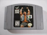 WWF War Zone (Nintendo 64 N64) - Authentic - Tested Working