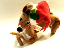 "Annalee Mobilitee Santa Christmas Reindeer Doll Vtg 1965 5"" Tall Made in the USA"