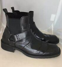 Lavorazione Artigiana Black Mid Boots Size 45 (11 US) Men's Italian Leather