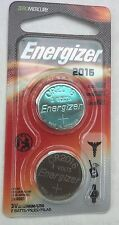 Energizer CR2016 2016, Lithium Batteries, 3 VOLTS, Set of 2 in one clam pack NEW