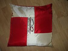 Beautiful Red & gold shinny sateen with embroidery absolutely beautiful pillow