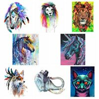 Animal DIY Printing Iron On Clothes Patches Heat Transfer Stickers Appliques Lot