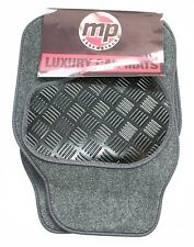 Hyundai i20 (08-Now) Grey Velour Carpet Car Mats - Rubber Heel Pad (with 18mm Ey