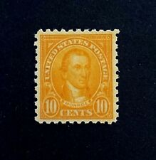 US Stamps, Scott #591 Monroe 1925 10c 2017 PSAG Certificate - GC XF 90 M/NH