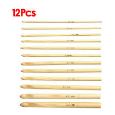 12 x 15 cm Crochet Hooks Knitting Needles Thickness 3-10 mm Bamboo LW