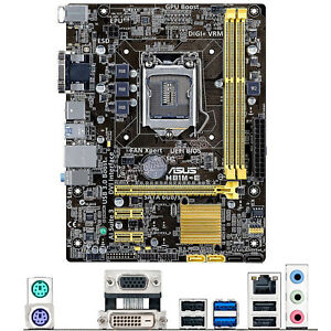 For ASUS H81M-E Intel Socket LGA 1150 uATX PC Motherboard DDR3 Mainboard